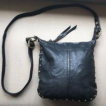 Fossil Black Purse With Gold Studs Euc Photo