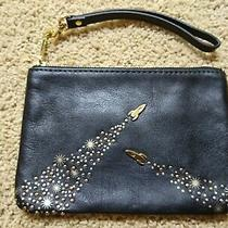 Fossil Black Rocket Design Leather Wristlet Pouch / Bag Nwot Photo