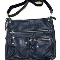 Fossil Black Soft Large Leather Shoulder Crossbody Handbag Purse Bag Photo
