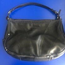 Fossil Black Soft Leather Purse Shoulder/hand Bag 75082 - Euc Photo