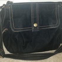 Fossil Black Velvet/canvas Cross Body Handbag Photo