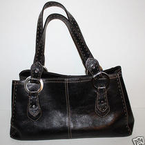 Fossil Blackburn Black Satchel Purse Handbag Bag Great Camera Bag Photo