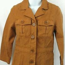Fossil Blazer Jacket Women's Extra Small Brown Vented 5 Button Vintage/modern Photo