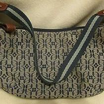 Fossil Blue Cloth Handbag Photo