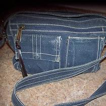 Fossil Blue Crossbody Handbag Photo