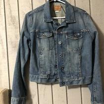 Fossil Blue Jean Denim Jacket Womens Size L- Nice Photo