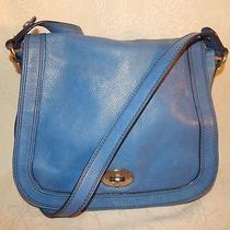Fossil Blue Leather Marlow Bag Photo
