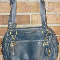 Fossil Blue Leather Purse Photo