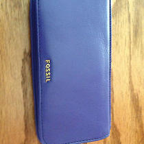 Fossil Blue Leather Wallet Photo