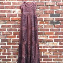 Fossil Bohemian Boho Burgundy Red Gray Sundress Maxi Dress Xs  Rare Photo