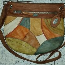 Fossil Boho Zb4590 Brown Patchwork Leather Cross Body Tote Satchel Purse Bag  Photo
