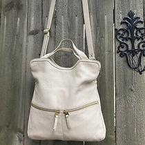 Fossil Bone Pebbled Leather Convertible Erin Tote Bag Zb5462 Photo