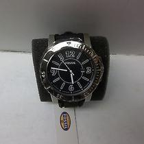 Fossil Bq1023 Black Silicone Band Men's Watch Brand New Black Face (6141) Photo