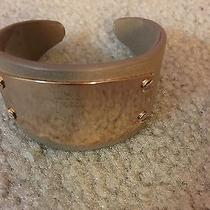 Fossil Bracelet Wristband Genuine Leather and Metal Rose Gold Brown Photo