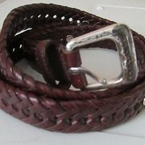 Fossil Braided Leather Belt 34