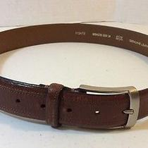 Fossil Brand  Brown Genuine  Leather Belt Size 34 Photo