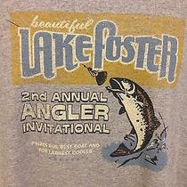 Fossil Brand Lake Foster Angler Invitational T-Shirt Men's Xxl 2xl Fishing Photo