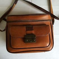 Fossil Brand Leather Safari Camera Bag Brown Photo