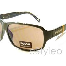 Fossil Brand Men Women Phil Rectangular Sunglasses Olive Green Camo Inside Nwt  Photo