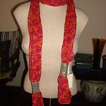 Fossil Brand Scarf With Cute Fish and Spangles Holiday Gift Nwt Photo