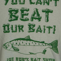 Fossil Brand White You Cant Beat Our Bait Joe Bobs Bait Shop Shirt Xl Photo