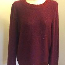 Fossil Bridgette Sweater Wine Size L.. Photo