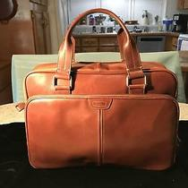Fossil Briefcase Brown Leather Messenger Bag Laptop Commuter Soft Photo
