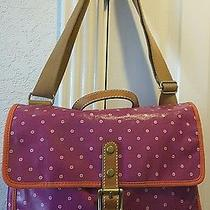 Fossil Bright Pink Satchel Great for Laptop or Book Bag Retired Photo