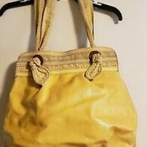 Fossil Bright Yellow Key-Per Coated Canvas Hobo Shoulder Tote Shoulder Handbag Photo