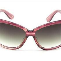 Fossil Brooke Berry Stripe Frame Gray Lenses Sunglasses Photo