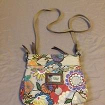 Fossil Brown and Flower Print Crossbody Purse Photo