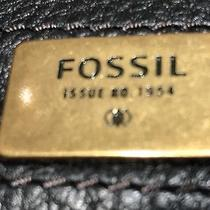 Fossil Brown/ Black Women's Bifold Wallet Clutch With Adjustable Snap Closure Photo