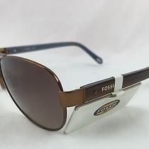 Fossil Brown & Bronze Ladies Sunglasses Style Fos2004s 01p5 Y6 58 13 135 Nwot Photo