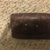 Fossil Brown Clutch Genuine Leather New With Tags Photo