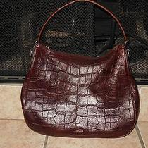 Fossil Brown Croc Print Leather Purse Photo