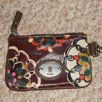 Fossil (Brown) Doodles Key Per Zip Coin Id Purse Wallet   Nwt Photo