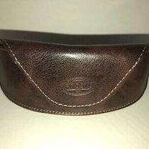 Fossil Brown Faux Leather  Soft Shell Eyeglass Sunglass Case Photo