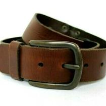 Fossil Brown Genuine Leather Belt Size 38 / L 1.1/2