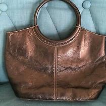 Fossil Brown Genuine Leather Circle Handle Purse Photo