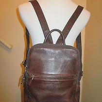 Fossil Brown Leather Backpack Shoulder Bag Handbag Purse   Photo