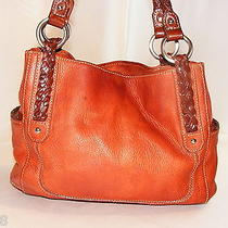 Fossil Brown Leather Bag Handbag Purse Photo