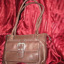 Fossil Brown Leather  Bag Organizer /purse Photo