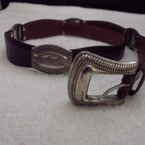 Fossil Brown Leather Belt 34