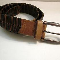 Fossil Brown Leather Belt 43