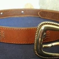 Fossil Brown Leather Belt Size M  Photo