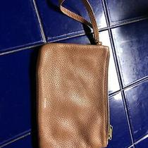 Fossil Brown Leather Clutch Photo