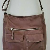 Fossil Brown Leather Cross Body Messenger Purse Bag Multi Pocket Organizer Photo