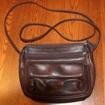 Fossil Brown Leather Crossbody Bag Distressed Dark Organizing Wallet  Photo