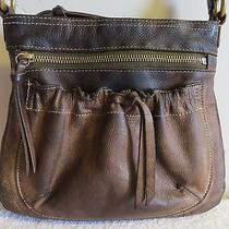 Fossil Brown Leather Crossbody Bag Well Used Photo