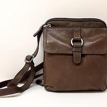 Fossil Brown Leather Crossbody Euc Photo